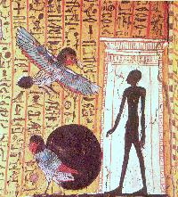 Shadow and ba-bird; Source: Aegypten - Schatzkammer der Pharaonen